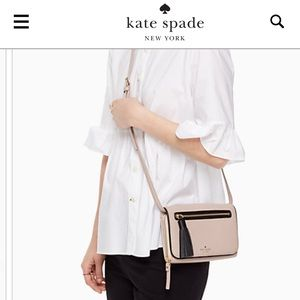 Kate Spade NWOT leather taupe crossbody bag